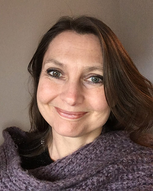 Profile shot of Sharon James